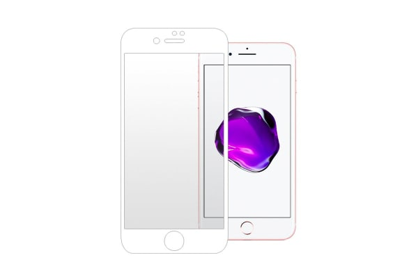 Premium Tempered Glass Screen Protector for iPhone 7/8 (White)