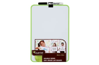 Quartet Double Sided Lap Board Magnetic Dry Erase/Marker/Office Assorted Colour