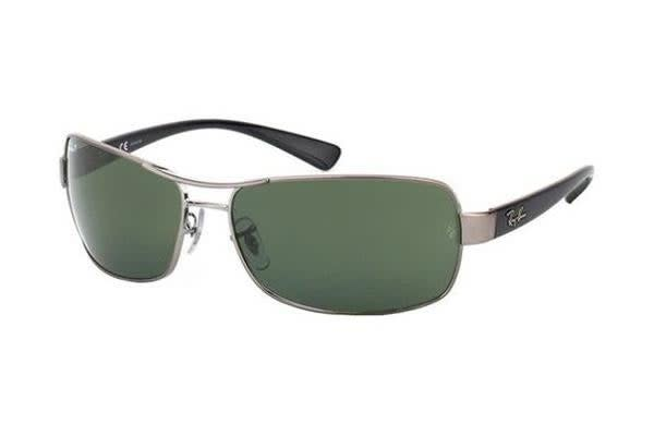 Ray Ban RB3379 64mm - Gunmetal (Green Polarised lens) Unisex Sunglasses