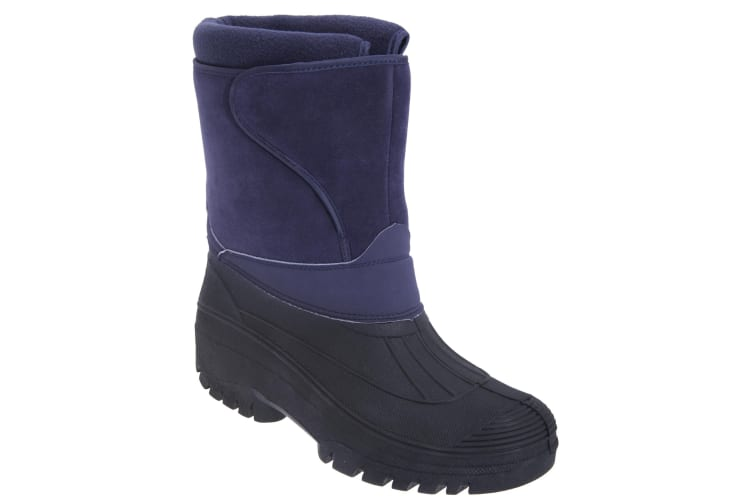 StormWells Adults Unisex Touch Fastening Insulated Boots (Navy Blue) (10 UK)