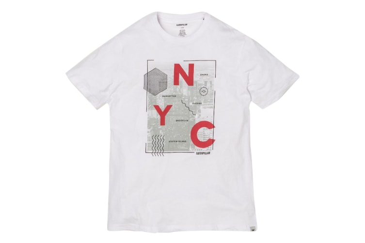 Cat Lifestyle Mens NYC Tee (White) (XL)