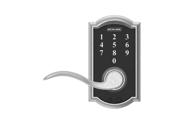 Schlage Touch Keyless Touchscreen Lever with Camelot Trim and Accent Lever (Satin Chrome)
