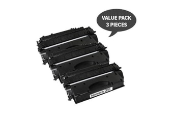 CE505A #05A Cart 319i Black Premium Generic Toner (Three Pack)