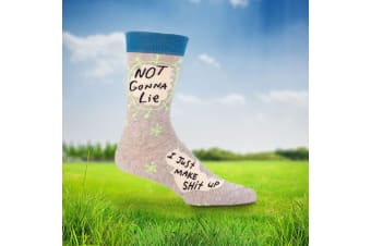 Not Gonna Lie - I Just Make Sh*t Up Socks – Mens Socks Funny For Liars