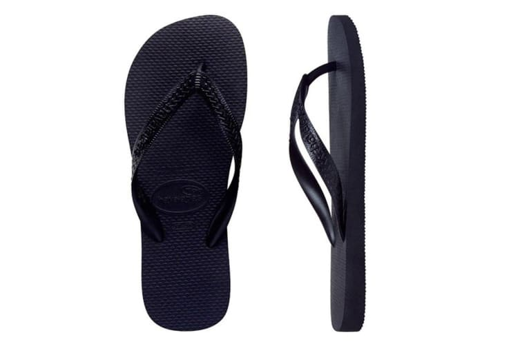 Havaianas Top Thongs (Black, Brazil 33/34)