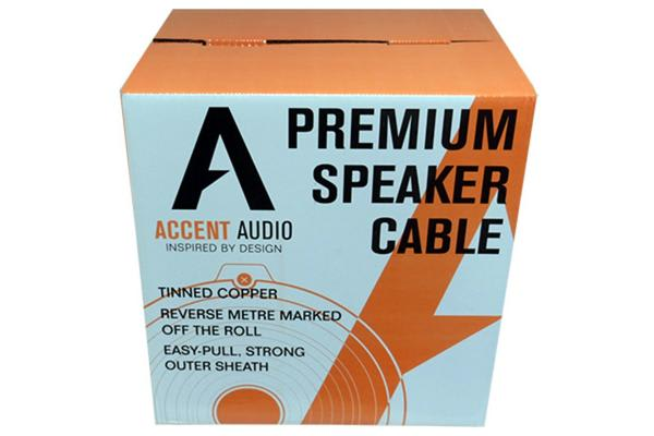 Accent Audio Premium Speaker Cable - 14 Gauge 4 Core Tinned Copper - 104 Strand - 8.0mm Overall