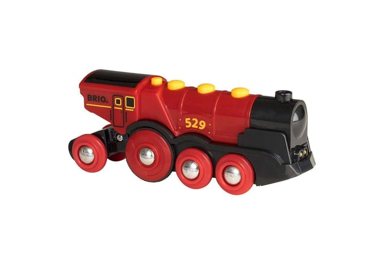 Brio Battery-Operated Mighty Red Action Locomotive