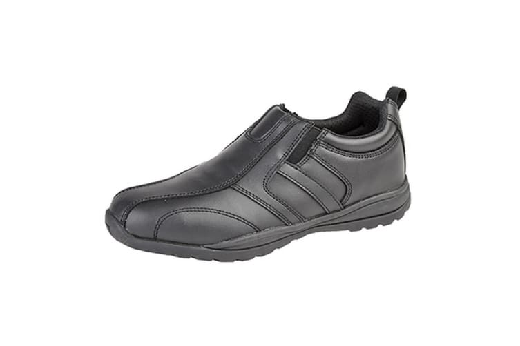 Grafters Mens Leather Safety Trainer (Black) (5 UK)