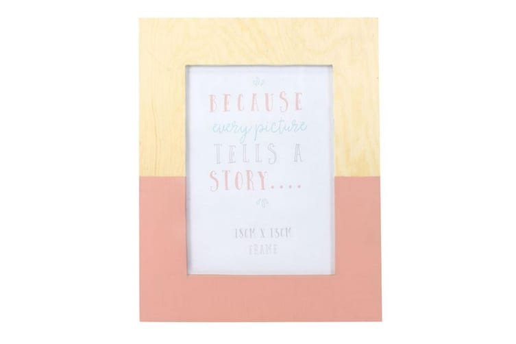Something Different Pink Wooden Geo Frame (Pink) (One Size)