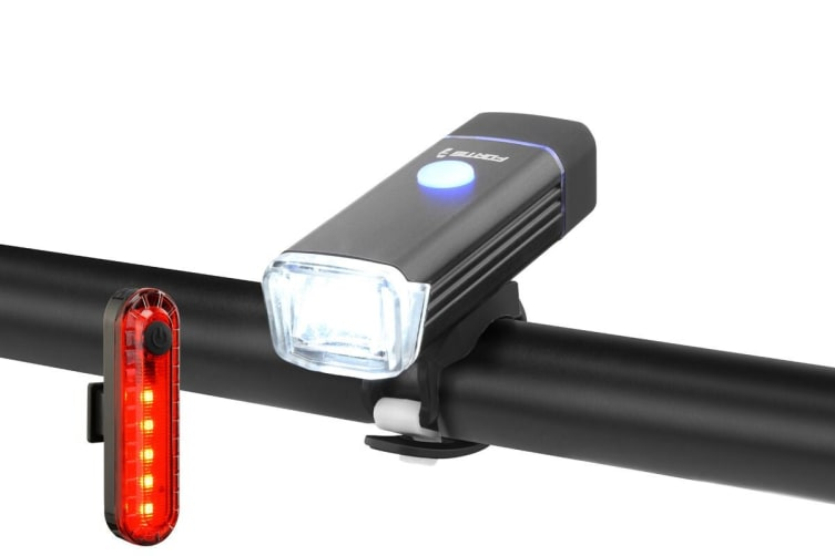 Fortis Bike Front & Rear USB Rechargeable LED Light Kit