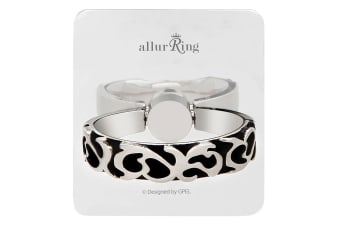 GPEL Califa Metal Silver Allur Ring & Stand for Smartphones