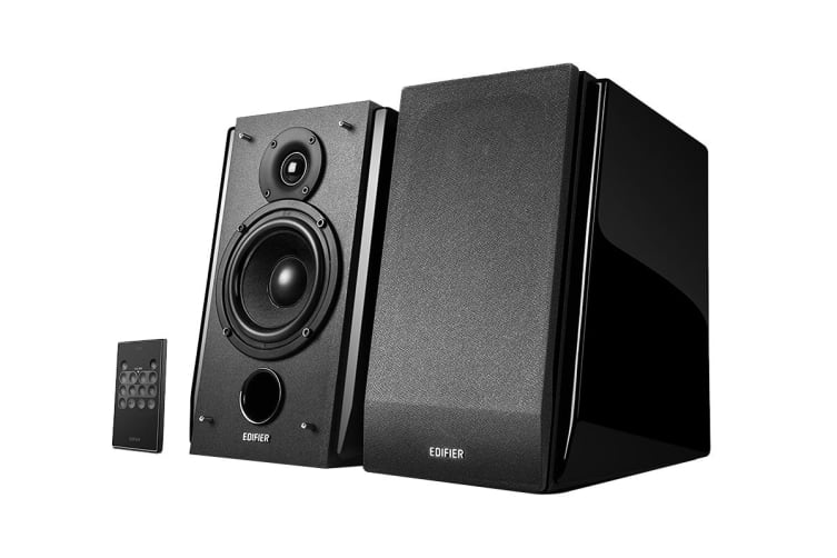 Edifier Active 2.0 Bookshelf Speakers  with Subwoofer Out & Built-In Amplifier - Black (R1850DB)