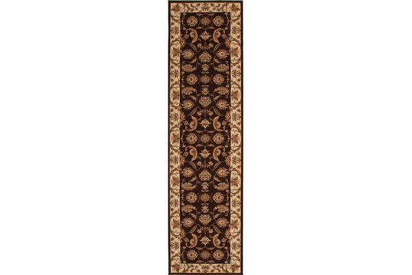 Stunning Formal Floral Design Rug Cream 400x80cm