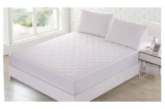 Fitted Cotton Cover Quilted Mattress Protector QUEEN