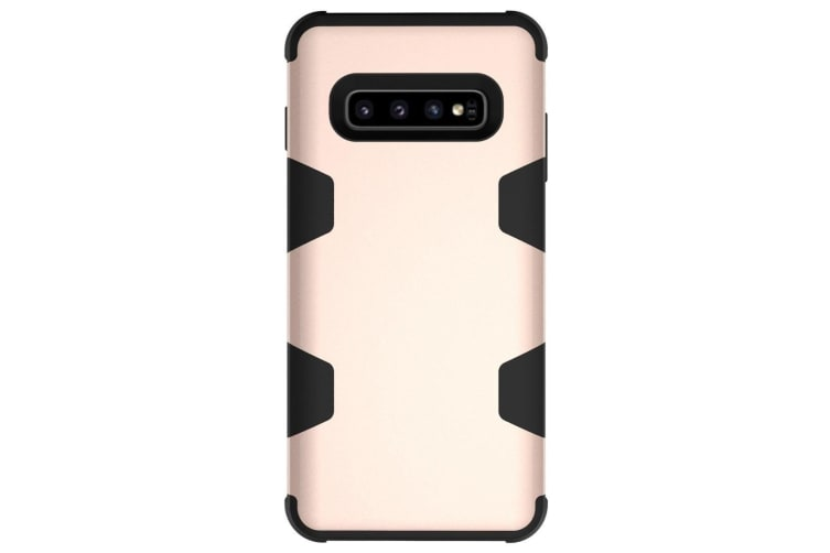 For Samsung Galaxy S10 Case  Gold Armour TPU & PC Shockproof Grip Back Cover