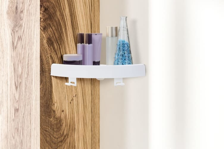 Ovela EasyClick Corner Bathroom Shelf