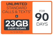 Kogan Mobile Prepaid Voucher Code: EXTRA LARGE (90 Days | 23GB Per 30 Days)