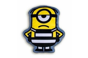 Despicable Me Wanted Shaped Cushion (Black/Yellow/Grey) (One Size)