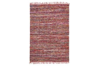 Primal Chindi Cotton Rug Red 220x150cm