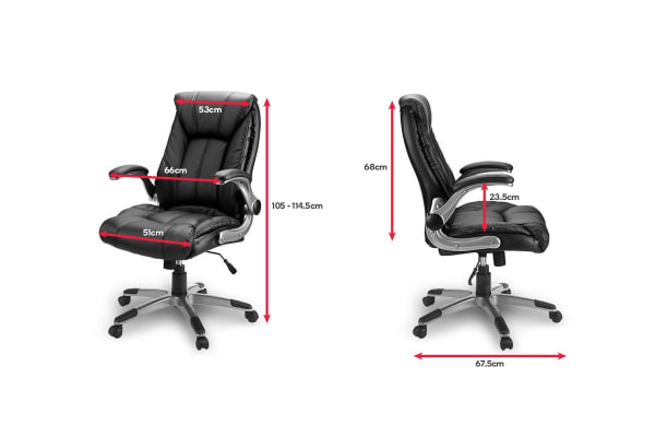 Ovela Luxe High Back Padded Office Chair