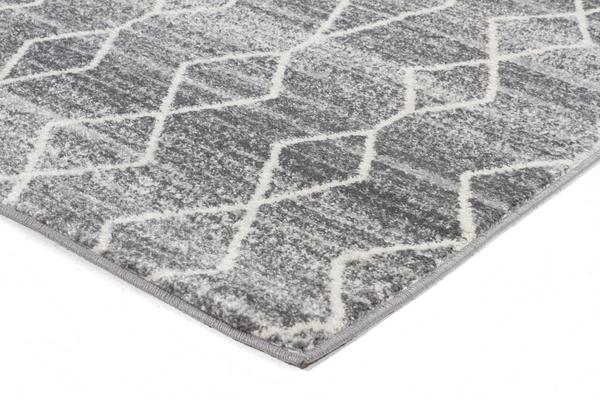 Remy Silver Transitional Rug 500x80cm