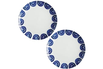 2PK Maxwell & Williams 36.5cm Suomi Ceramic Round Serving Dining Plate Dish
