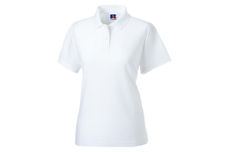 Jerzees Colours Ladies 65/35 Hard Wearing Pique Short Sleeve Polo Shirt (White) (XL)