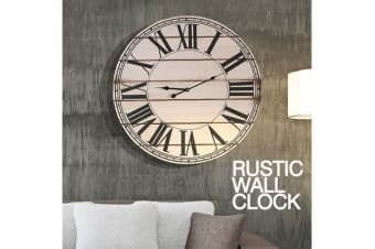 Large Vintage Wooden Board Wall Clock 60cm