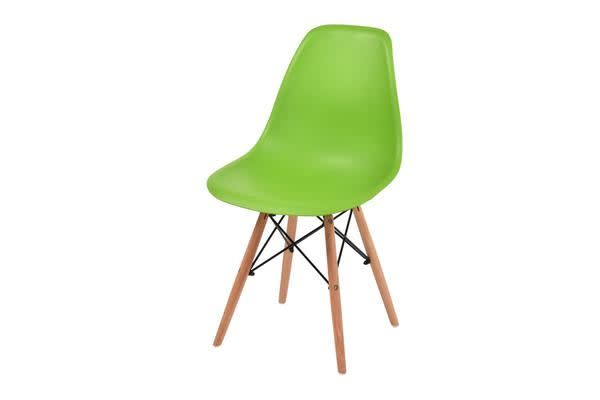 4 x Retro Replica Eames DSW Plastic Dining Office Cafe Lounge Chair Panton - Green