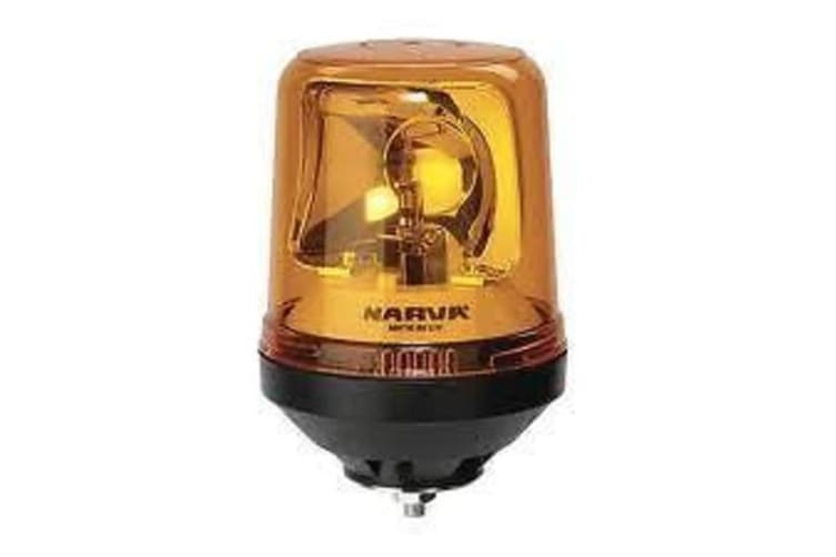 NARVA BOLT MOUNT BASE ROTATING LIGHT BEACON AMBER 12V 12 24 VOLT NEW 85652A