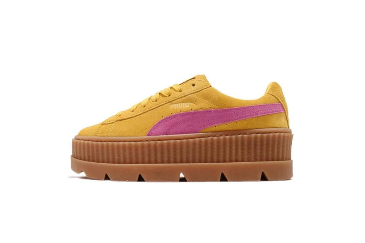 Puma X FENTY By Rihanna Womens/Ladies Cleated Suede Creepers (Lemon/Pink) (4.5 UK)