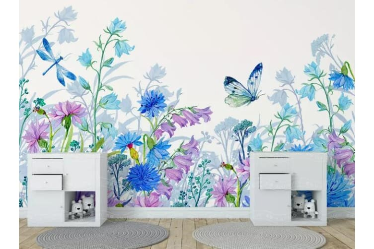 3D Hundred Flowers 1344 Wall Murals Self-adhesive Vinyl, XXL 312cm x 219cm (WxH)(123''x87'')