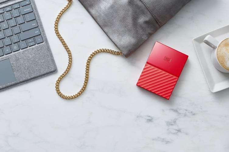 WD My Passport 2TB USB 3.0 Portable Hard Drive - Red (WDBS4B0020BRD-WESN)