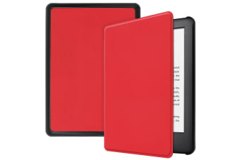 Smart Stand Case For Amazon All New Kindle 2019 10th Gen PU Leather Folio Cover-Red