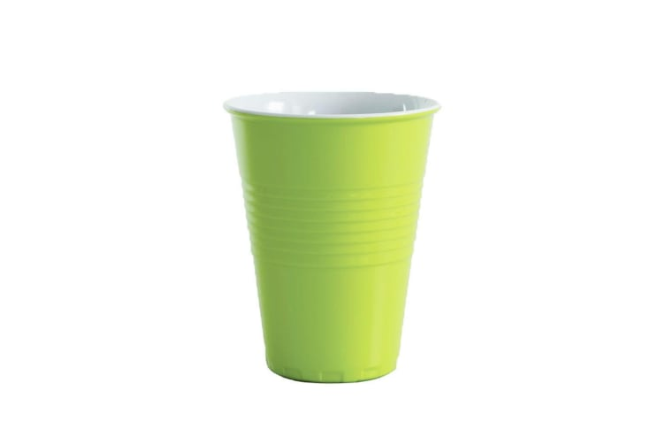 Avanti Miami Melamine Cup Green 400ml Coffee Tea Drink Tumbler Kids BBQ Tone