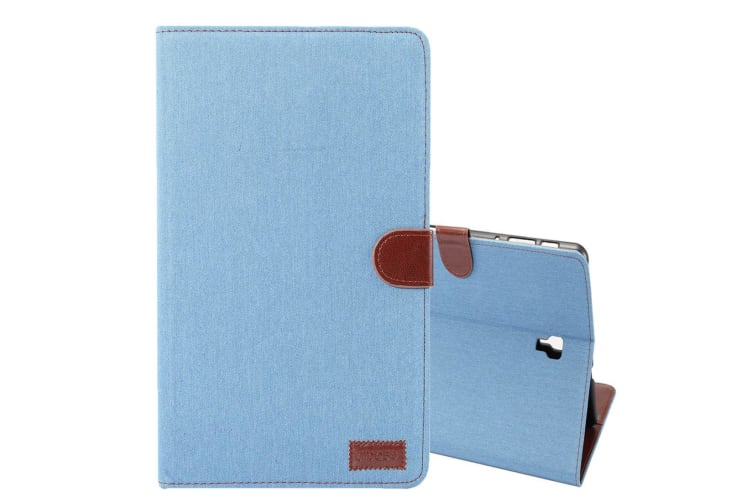 For Samsung Galaxy Tab S4 10.5in Case Blue Denim Texture PU Leather Folio Cover