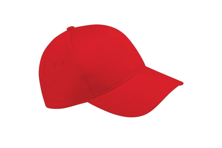 Beechfield Unisex Ultimate 5 Panel Baseball Cap (Pack of 2) (Classic Red) (One Size)