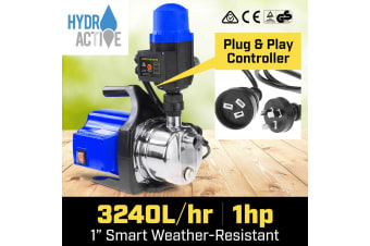 Hydro Active 800w Weatherised stainless auto water pump