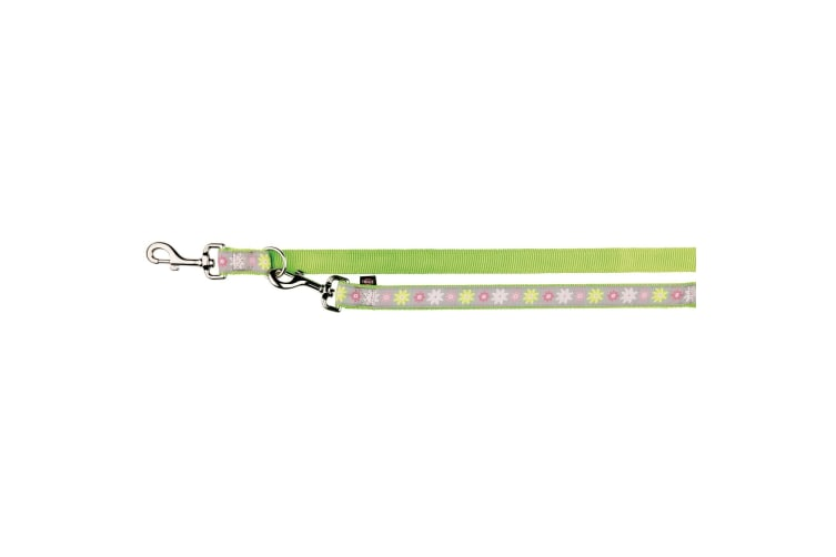 Trixie Modern Art Adjustable Dog Leash Blooms (Green) (XS–S)