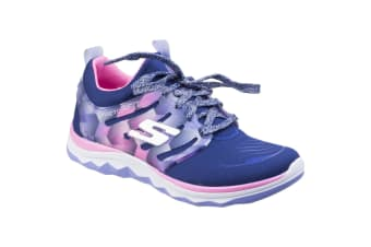 Skechers Childrens Girls SK81560L Diamond Runner Sports Shoes/Trainers (Navy/Hot Pink) (12 Childs UK)