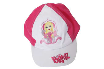 Girls Bratz Printed Baseball Cap (White/Pink) (4-8 Years)