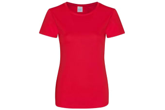 AWDis Just Cool Womens/Ladies Girlie Smooth T-Shirt (Fire Red)