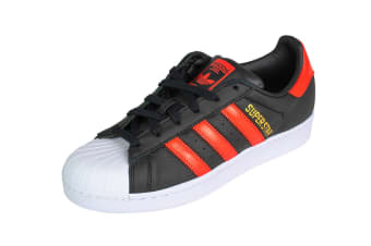 Adidas Originals Men's Superstar Shoe (Core Black/Bold Orange/White, Size 7 UK)
