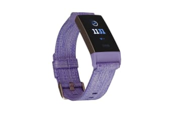 Fitbit Charge 3 Woven (Lavender, Rose-Gold Aluminium)