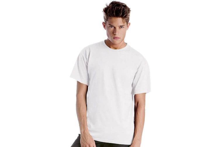 B&C Mens Exact 150 Short Sleeve T-Shirt (White) (4XL)