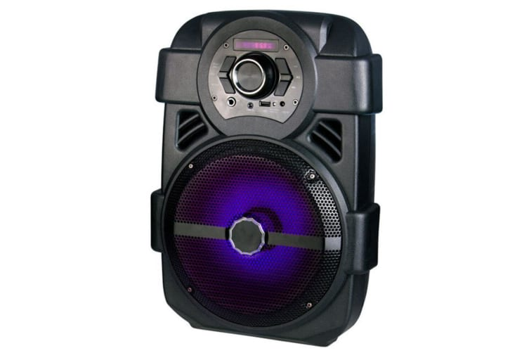 "Laser 8"" 60W Portable Wireless Bluetooth Speaker/Mic Karaoke/FM/AUX/MP3 Player"