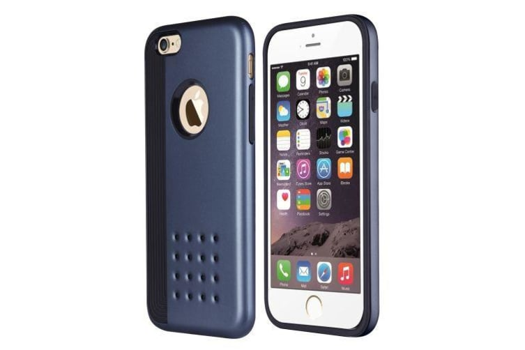 purchase cheap ac14b f0549 For iPhone 6S PLUS 6 PLUS Case Cookie Armour Durable Shielding Cover Dark  Blue