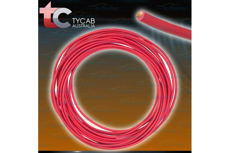 6 B&S SINGLE CORE CABLE DUAL BATTERY SYSTEM 12V 1 METRE RED COVER 6BS BS NEW