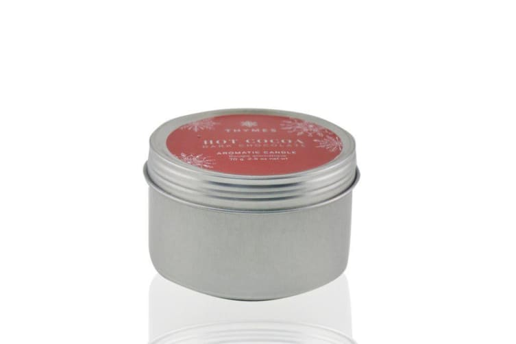 Thymes Aromatic Candle (Travel Tin) - Hot Cocoa Dark Chocolate 70g