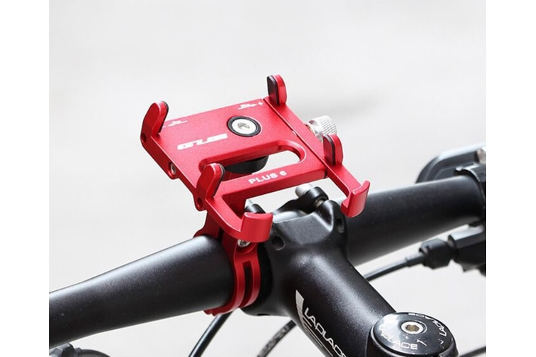 Bicycle & Motorcycle Phone Mount ,for iPhone X XR Xs 7s 8 Plus, Samsung S7/S6/Note5/4 GPS, Mount 4 to 6.5 Inch(RED AND BLACK )